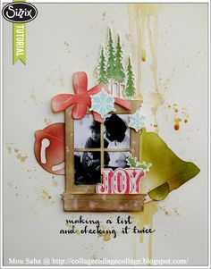 Sizzix Die Cutting Tutorial | Spreading a little Holiday Joy by Mou Saha