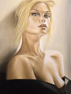 "Saatchi Art Artist Gennaro Santaniello; Painting, ""Don't look at me"" #art"