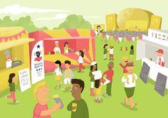 Food festival illustration
