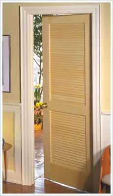 Full louver unfinished pine interior door slab basement for 18 inch louvered door