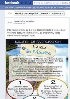 L'Office de Tourisme de l'Ile Maurice lance sa page Facebook France