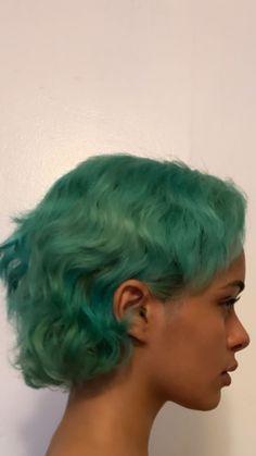 Dye My Hair, New Hair, Green Hair, Blue Hair, Hair Inspo, Hair Inspiration, Curly Hair Styles, Natural Hair Styles, Mullet Hairstyle