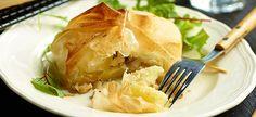 Delhaize - Geitenkaas met ananas en honing in brickdeeg