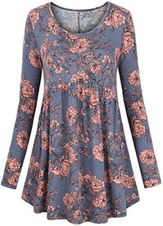 Find FANSIC Women Floral Tops,Short Sleeve Empire Waist A Line Flowy Tunics Blouses online. Shop the latest collection of FANSIC Women Floral Tops,Short Sleeve Empire Waist A Line Flowy Tunics Blouses from the popular stores - all in one Hoodie Sweatshirts, Tunic Blouse, Tunic Tops, Tunic Dresses, Beach Dresses, Empire Waist Tops, Look Plus Size, Under Armour, Winter Outfits Women