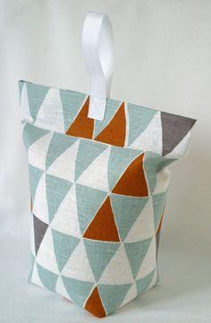 'Geometric' Stoff Türstopper von Louise Brainwood Textiles auf DaWanda.com
