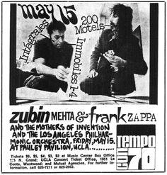 Frank Zappa - 200 Motels Advetise 1970-05-12
