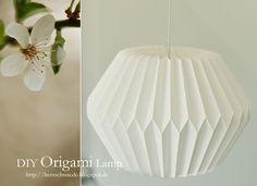DIY Origami: DIY Origami Lamp instructions : herzschmiede.blogspot.nl