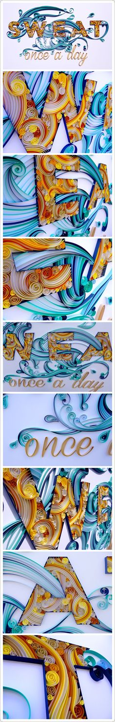 Multiple techniques in this beautifully quilled piece...excellent!  : )