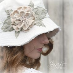 Shabby Chic Linen Cloche Hat