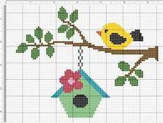 Resultado de imagem para graficos ponto cruz casinha de passarinho