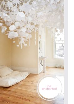 PAPER CUTTING -- to hang from ceiling. Love this idea!
