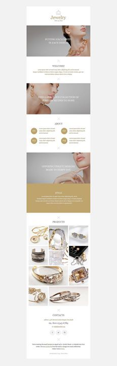 In love!!!   Jewelry Responsive Newsletter Template CLICK HERE! live demo  http://cattemplate.com/template/?go=2eDzJ7u