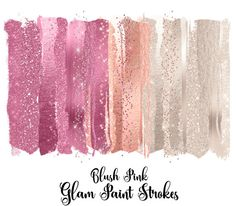 Blush Pink Glam Paint Strokes Clipart, watercolor pink and ivory pearl glitter, brush stroke clip art, shimmering sparkle png overlays Art Design, Creative Design, Design Elements, Graphic Design, Paint Strokes, Brush Strokes, Blush And Gold, Blush Pink, Rose Gold