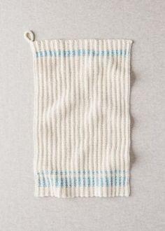 Farmhouse Dishtowels | Purl Soho Knitted Dishcloth Patterns Free, Knitted Doll Patterns, Beginner Knitting Patterns, Knit Dishcloth, Knitted Dolls, Knitting Stitches, Knitting Projects, Craft Projects, Farmhouse Dishtowels