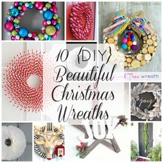 10 gorgeous DIY Christmas wreaths!