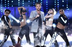 Adam Lambert performs onstage at the 2015 Logo Trailblazer Honors.   MTV Photo Gallery