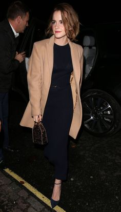 In a BEHNO coat, out in London.