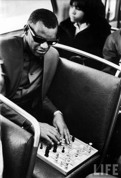 LIFE: Ray Charles playing chess - Hosted by Google