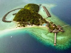 Huma Island Resort & Spa in Palawan, Philippines is blessed w/ abundant marine life, startling beaches, & a lush rainforest. Resorts In Philippines, Philippines Travel, Dream Vacations, Vacation Spots, Bungalow Resorts, Palawan Island, Philippine Holidays, Island Resort, Beach Hotels