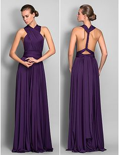 Lanting Mix&Match Convertible Dress Floor-length Jersey Sheath/Column Dress (633753) 633753 2016 – $67.99