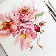 "3,972 Likes, 13 Comments - Watercolor illustrations (@watercolor.illustrations) on Instagram: "" Watercolorist: @katya_mihailina_07 #waterblog #акварель #aquarelle #painting #drawing #art…"""