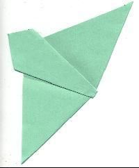 How to fold hankie for butterfly quilt