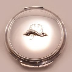 Rare Find Sterling Silver Georg Jensen Compact with Orig Dust Sleeve - dates from 1940's, remains in outstanding condition. After failing ata career in ceramics as a young man. Jensen started his first small silversmithy in 1904. in Copenhagen, Denmark. from easterbelles-emporium on Ruby Lane  $785