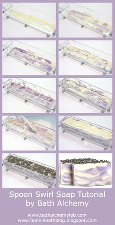 DIY Spoon Swirl Lavender Cold Process Soap Tutorial