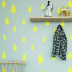 Tapeta żółte krople - Sklep Toto Design