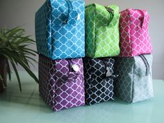 Quatrefoil cosmetic bag SPA bag made from microfiber with muti-color available