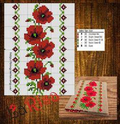 123 Cross Stitch, Cross Stitch Borders, Cross Stitch Flowers, Cross Stitch Designs, Cross Stitching, Cross Stitch Embroidery, Cross Stitch Patterns, Embroidery Patterns Free, Loom Beading
