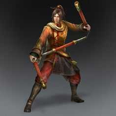m Monk Nunchuck staff Asian Faction urban Ling Tong & Weapon (Wu Forces) Boy Character, Character Concept, Character Design, Character Ideas, Warriors Game, Dynasty Warriors, Fantasy Male, Fantasy Rpg, Dnd Characters