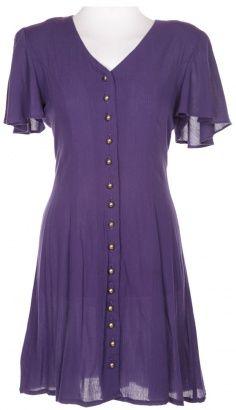 love a purple button down dress