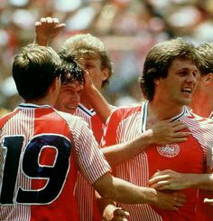 Denmark 2 West Germany 0 in 1986 in Queretaro. John Eriksen made it 2-0 on 62 minutes in Group E at the World Cup Finals.