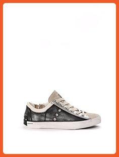 8797eca7b995 Crime London Women s 2500520 Silver Grey Leather Sneakers - Sneakers for  women ( Amazon Partner-Link)