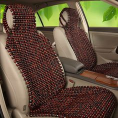 Car van taxi #beaded seat cover interior massage cushion #wooden ...