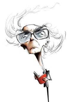 Caricature of portuguese writer José Saramago for Time Out Lisbon for Visitors magazine 2011
