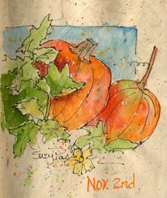 Brenda Swenson, A sketch artist does this 75 day Sketch Challenge, and I decided to join in.  I started it Oct.14th, Using ink and pen on...