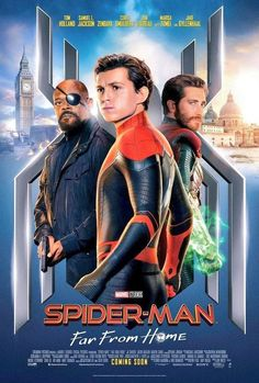 Sony has released another wave of character posters for Far From Home, and these put the spotlight on Spider-Man (Tom Holland), Mysterio (Jake Gyllenhaal), MJ (Zendaya), and Nick Fury (Samuel L. Films Marvel, Marvel Movie Posters, Marvel Marvel, Nick Fury, Tom Holland, Venom Film, Iron Man Marvel, Thriller, Movie Posters