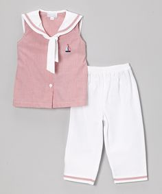 Look what I found on #zulily! Red & White Sailor Top & Pants - Infant & Toddler by Fantaisie Kids #zulilyfinds