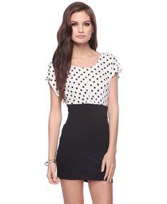 Polka Dot Combo Dress | FOREVER21 - 2011408764