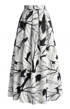 Branch Out Pleated Maxi Skirt - Maxi Skirt - Trend and Style - Retro, Indie and Unique Fashion