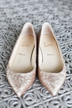 Flat Louboutins.. Wedding shoes!