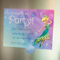 disney fairies pixie party invitations