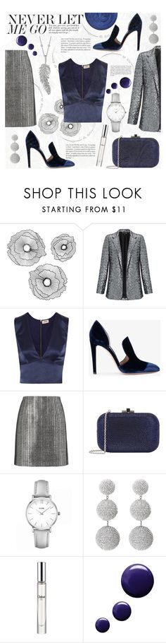 """""""METALLIC"""" by celine-diaz-1 ❤ liked on Polyvore featuring Improvements, Miss Selfridge, L'Agence, Gianvito Rossi, Thierry Mugler, Judith Leiber, CLUSE, Chloé, Topshop and Penny Preville"""