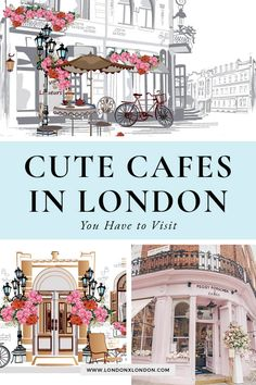 Spending time in London? Don't miss these pretty cafes in London. These cafes are some of London's most instagrammable spots - serving up delicious coffees with a side of cute decor. Little wonder that they're some of the must-try places to eat and drink in London #London #londontravel #travel #visitlondon London Attractions, Cute Cafe, Travel Around Europe, London Food, Things To Do In London, European Destination, London Life, Best Places To Eat, London Travel