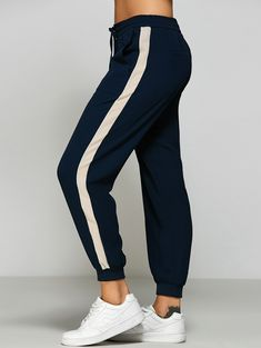 $16.72 for Side Stripe Relaxed Joggings Pants CADETBLUE: Pants | ZAFUL