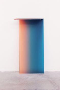 "An acid-etched console table from Germans Ermics' ""Shaping Colour"" for Dutch Invertuals via @sightunseen"