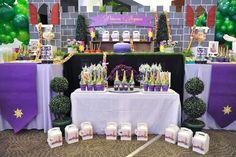 Fiesta de cumpleaños con temática de Rapunzel   Ideas para Decoracion