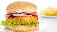 Veggie Burger Recipe | Indian Style Veg Aloo Tikki Burger Recipe